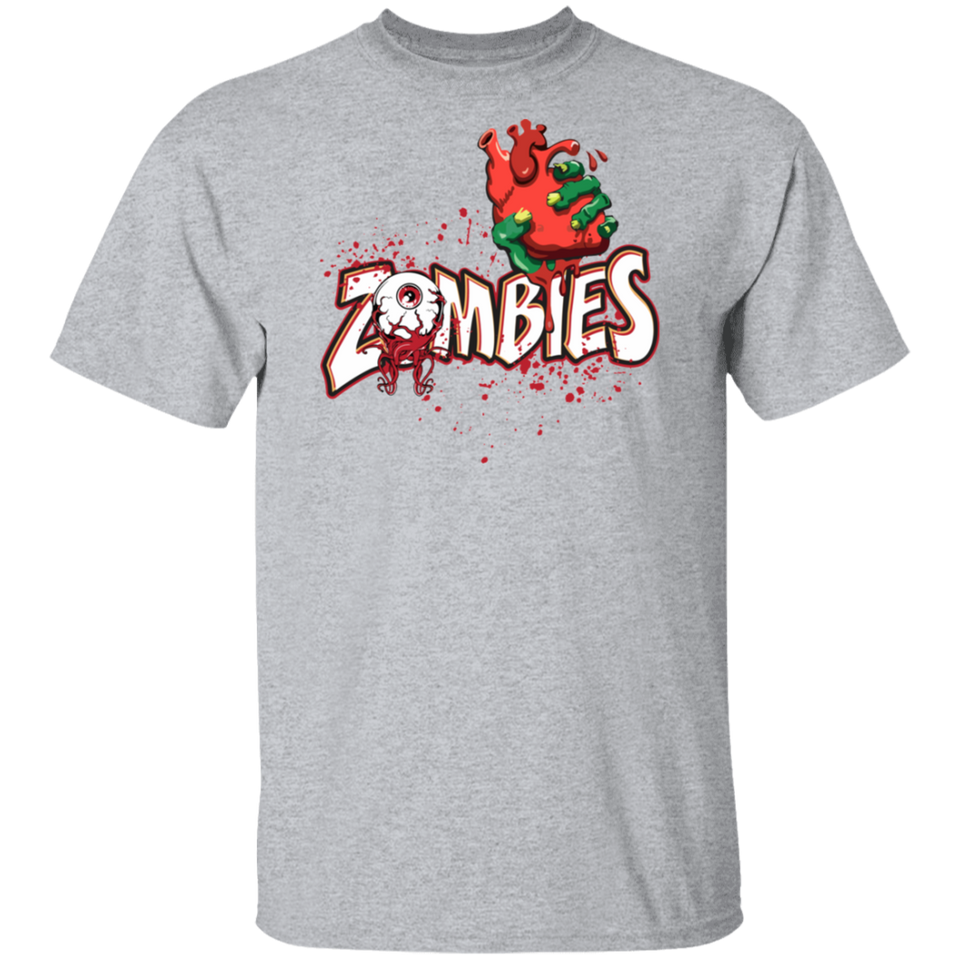 Funny Halloween Shirt Scary Zombies Eye And Heart T-shirt - FrankyTee