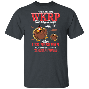 First Annual WKRP Turkey Drop Thanksgiving Day T-shirt - FrankyTee