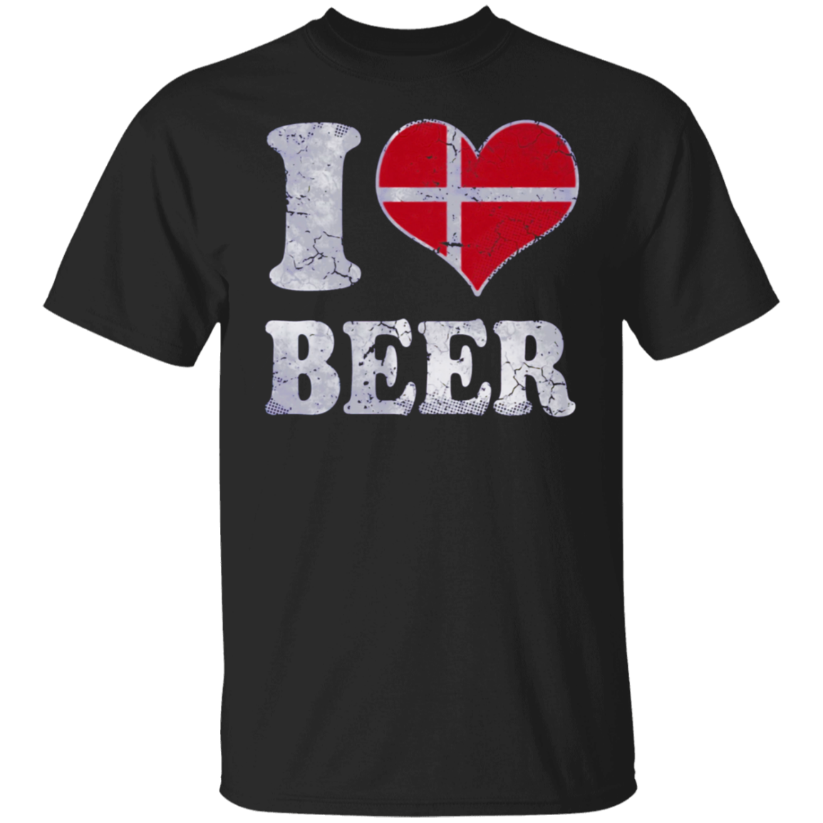 I Heart Danish Beer Denmark Flag Shirt
