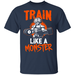 Dragon Ball Z Shirts Men's Train Like a Monster Goku's Gym Shirt - FrankyTee