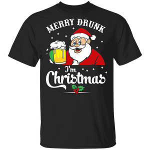 Merry Drunk I'm Christmas Shirt Funny Christmas Party T Shirt - FrankyTee