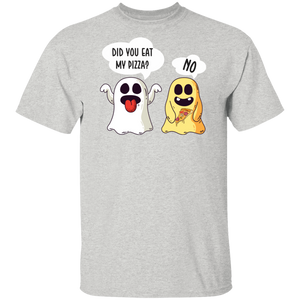 Pizza Shirt Funny Ghost Halloween Pizza T-shirt - FrankyTee
