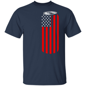 4TH Of July Beer Can Flag Tshirt - FrankyTee