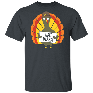 Turkey Eat Pizza Funny Thanksgiving T-Shirt Adult Day - FrankyTee