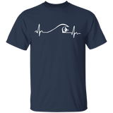 Surfer Surfing Wave Heartbeat Shirt Gifts - FrankyTee