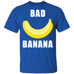 Bad Banana T-Shirt with Shiny Yellow Peel for Men and Women - FrankyTee
