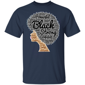 Afro Word Art T-Shirt for Black History Month - FrankyTee