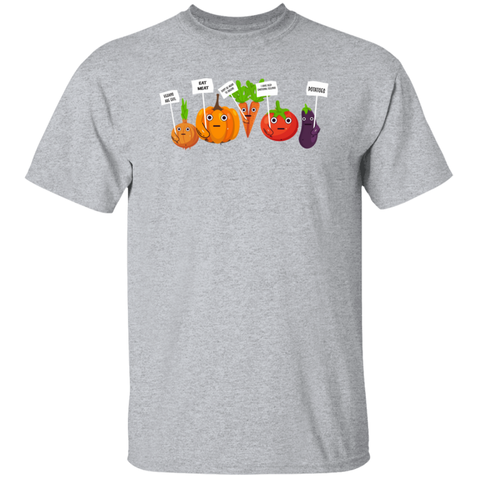 Inbara I Hate Vegans Cartoon Vegetables Halloween TShirt - FrankyTee
