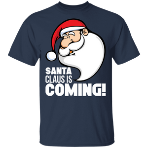 Santa Claus is Coming Funny Christmas Season T Shirts - FrankyTee