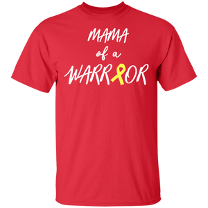 Mama of a Warrior, Childhood Cancer Awareness Shirt, Yellow - FrankyTee