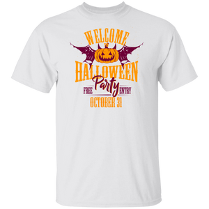 Happy Halloween Evil Pattern Black Throw T-shirt - FrankyTee