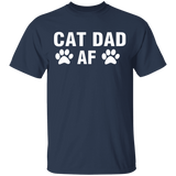 Cat Dad Af T- Shirt - FrankyTee