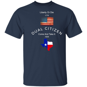 Dual Citizen USA And Texas T-shirt - FrankyTee