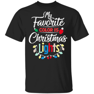 My Favorite Color Is Christmas Lights T-Shirt Pajamas - FrankyTee