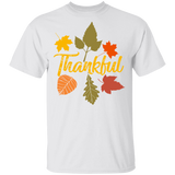 Thankful - Thanksgiving Autumn leaves T-shirt - FrankyTee