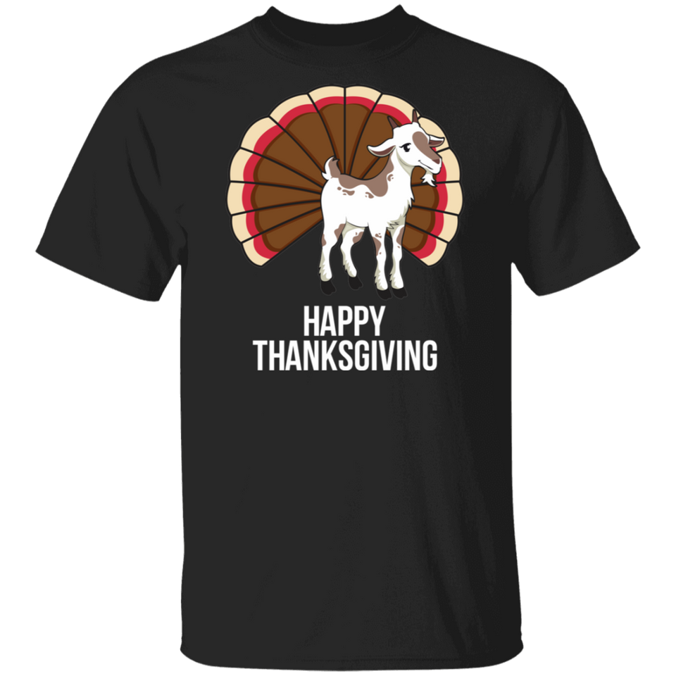 Happy Thanksgiving Goat Turkey T-Shirt - FrankyTee