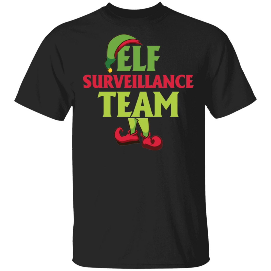 Elf Surveillance Team Funny Xmas Christmas T-shirt - FrankyTee