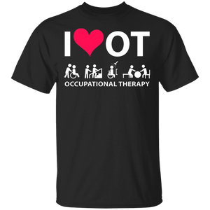 I Heart Love Ot Occupational Therapy Shirt - FrankyTee