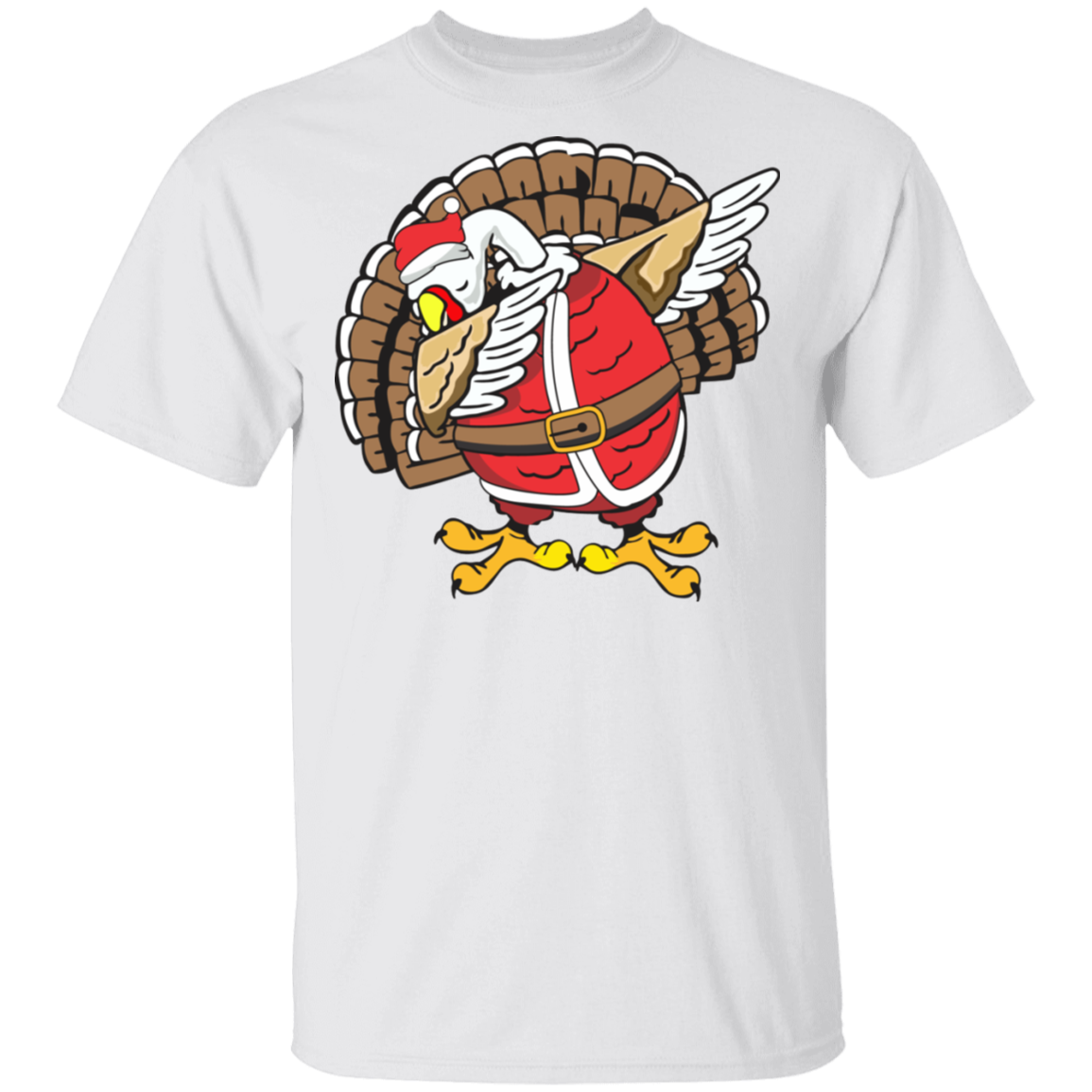Light Dabbing Turkey  T-shirt Funny Thanksgiving Christmas Shirt
