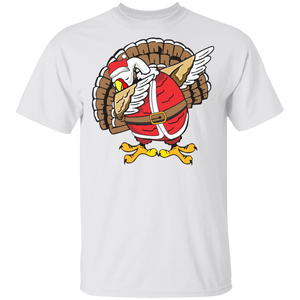 Light Dabbing Turkey  T-shirt Funny Thanksgiving Christmas Shirt - FrankyTee