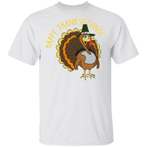 Happy Thanksgiving Turkey Women's  Light T-shirts - FrankyTee