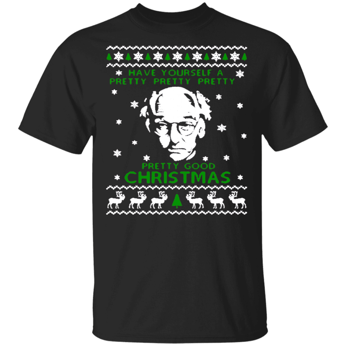 Larry-david Pretty Good Christmas Ugly Sweater Shirt