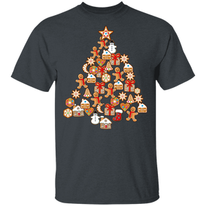 Gingerbread Man Christmas Tree Gingerbread Decor T-shirt - FrankyTee