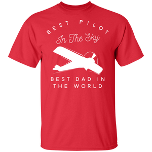 Mens Dad Father Airplane Pilot T Shirt Birth Day Gift Shirt - FrankyTee