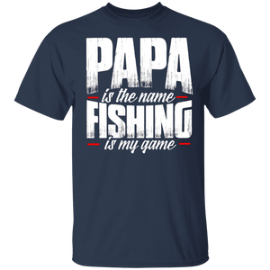 Papa Is The Name Fishing Is My Game T-shirt - Papa Shirts - FrankyTee