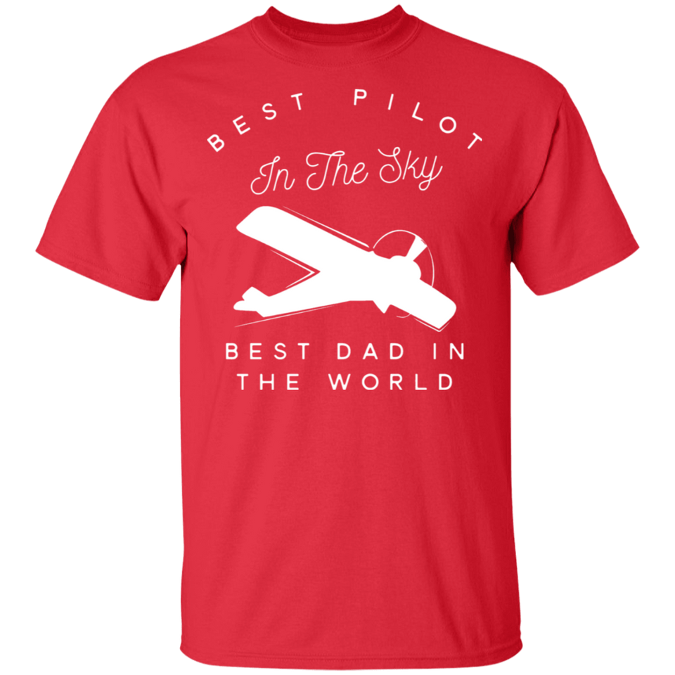 Mens Dad Father Airplane Pilot T Shirt Birth Day Gift - FrankyTee