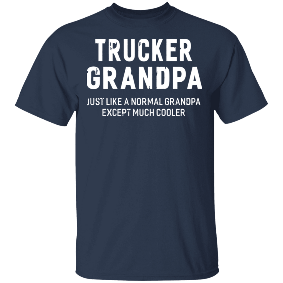 Trucker Grandpa Gifts For Grandpa Firefghiter Men Shirt - FrankyTee