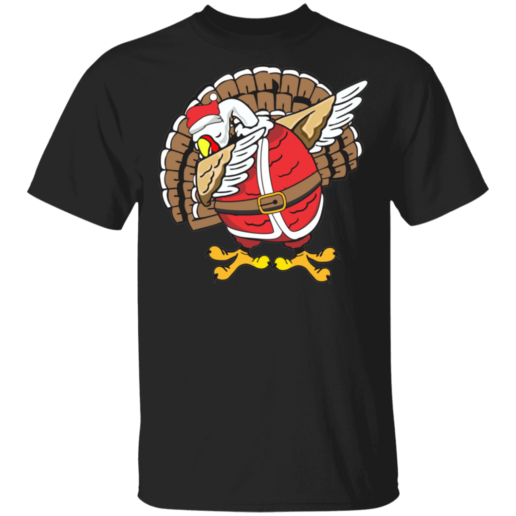 Funny Dabbing Turkey T-Shirt Thanksgiving Christmas - FrankyTee