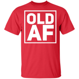 OLD AF Funny Birthday T-Shirt Men and Women_Black - FrankyTee