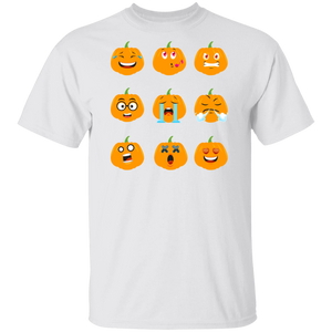Funny Halloween Fall Thanksgiving Pumpkin Emoji Shirt - FrankyTee