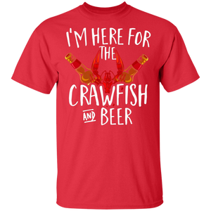 I'm Here For The Crawfish And Beer Tshirt Cajun Boil Party - FrankyTee