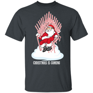 Santa Candy Cane Throne Funny Christmas Shirt - FrankyTee
