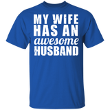 Men's My Wife Has An Awesome Husband Shirt Father's Day Gift - FrankyTee