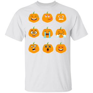 Pumpkin Emoji Halloween Fall Thanksgiving T-shirt - FrankyTee
