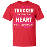 There's This Trucker T-shirt Trucker Stole My Heart - FrankyTee