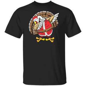Funny Dabbing Turkey T-Shirt Thanksgiving Christmas Shirts - FrankyTee