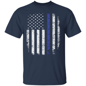 Thin Blue Line American Flag Police shirt BLUE LIVES MATTER - FrankyTee