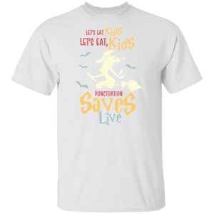 Punctuation Saves Lives Halloween T-shirt - FrankyTee