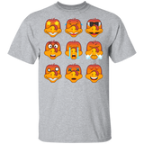 Turkey Emoji Funny Thanksgiving Christmas Light T-shirts - FrankyTee