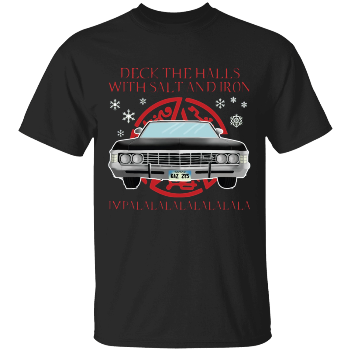 Deck The Halls With Salt Iron Impalalala Christmas Shirt
