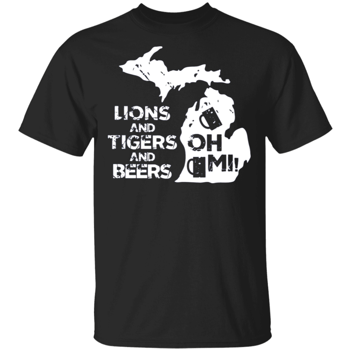 Active Shirt LIONS and TIGERS and BEERS OH MI