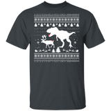 T-Rex Attack Moose Ugly Sweater Dino Christmas Shirts - FrankyTee