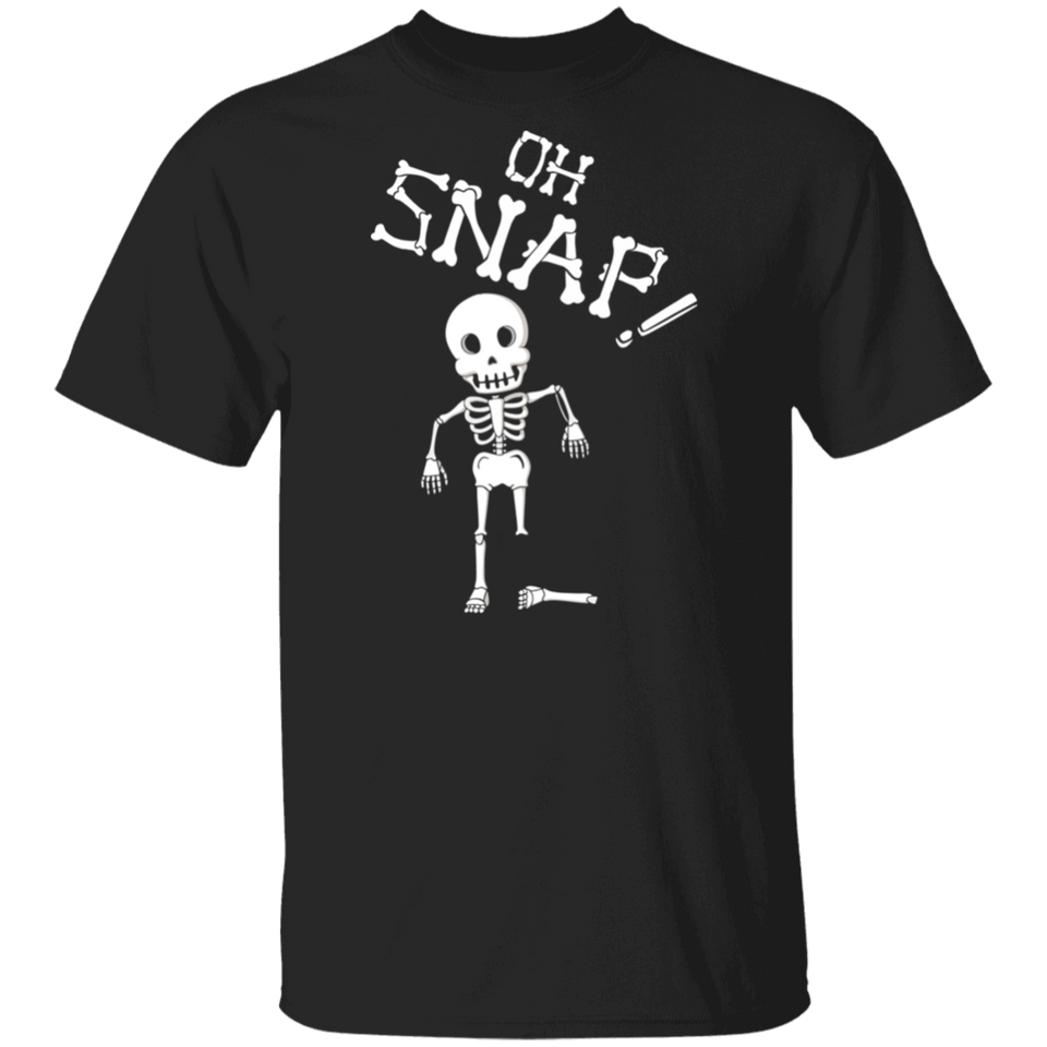 Oh Snap Funny Skeleton Halloween Shirts - FrankyTee