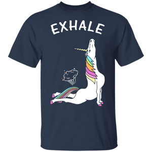 Exhale - Yoga Unicorn T-Shirt - FrankyTee