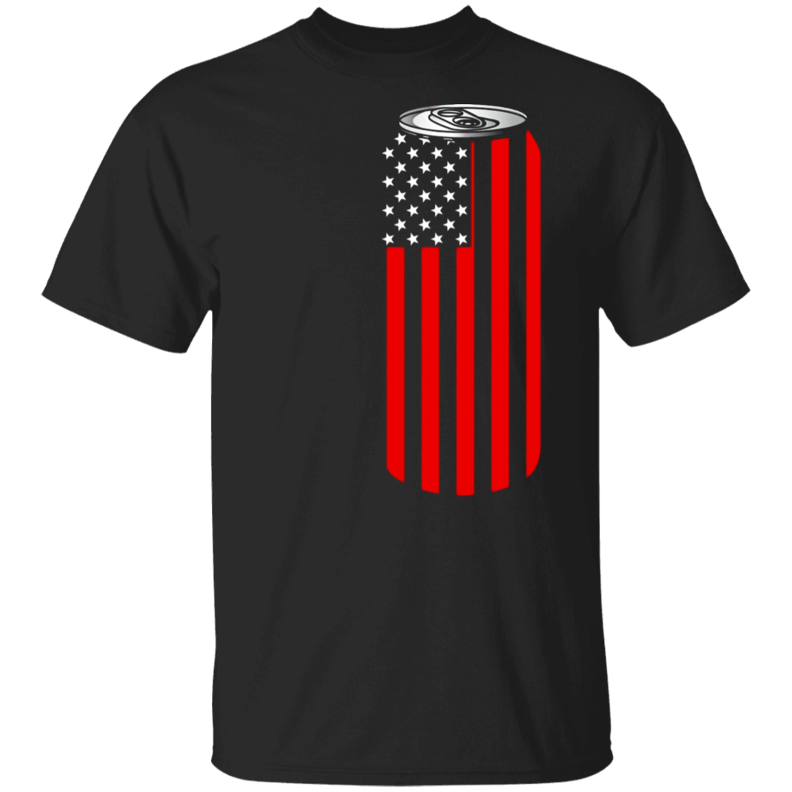 4TH Of July Beer Can Flag Tshirt