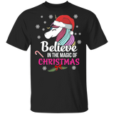Christmas Unicorn Shirt Magical Believe Unicorns Tshirt - FrankyTee